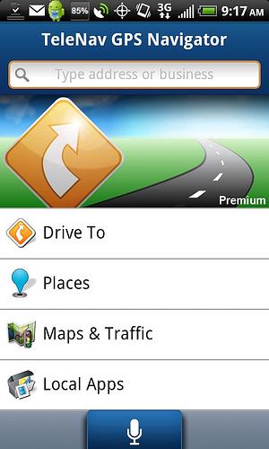 TeleNav GPS Navigator Updates for AT&T Android Smartphones