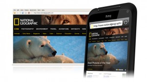 HTC Incredible S Browsing Webpages
