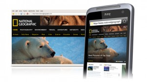 HTC Salsa Browsing Webpages