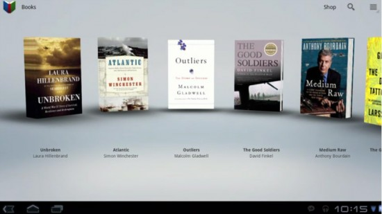 Honeycomb Preview Google Books App