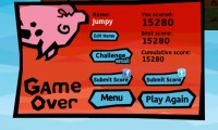 Pig Rush Game Over