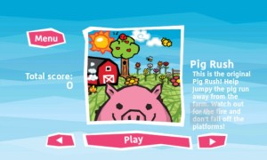 Pig Rush Select Screen