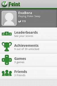 Poker Swap Open Feint Achievements