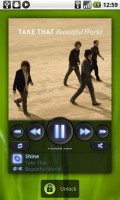 PowerAMP Music Player Homescreen Widget