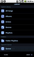 PowerAMP Music Player Library of Songs