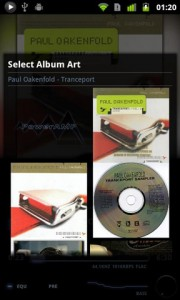 PowerAMP Music Player Select Album Art