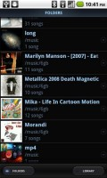 PowerAMP Music Player Song Folders