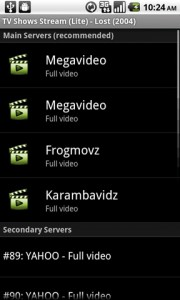 TV Shows Stream List of Video Servers