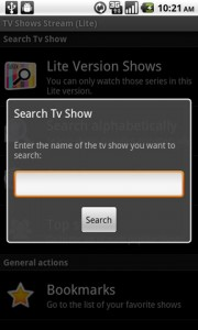 TV Shows Stream Search