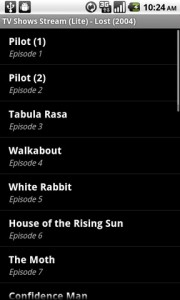TV Shows Stream Show Episodes Page