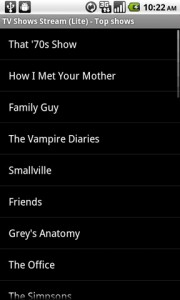 TV Shows Stream Top Shows