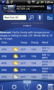 The Weather Channel Hourly Forcasts