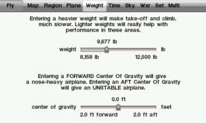 X-Plane 9 Weight