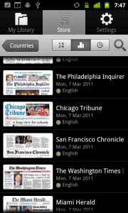 PressReader List of Newspapers from the Store