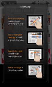 PressReader Reading Tips