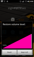 Shush Restore Volume