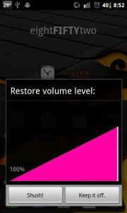 Shush Restore Volume