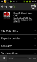 TuneIn Radio CNET BOL Podcast