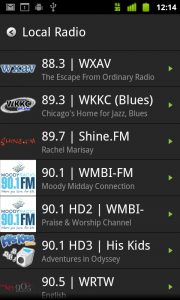 TuneIn Radio Local Radio Stations