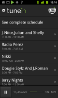 TuneIn Radio Station Program Lineup