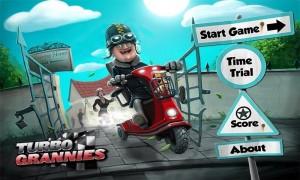 Turbo Grannies Start Screen