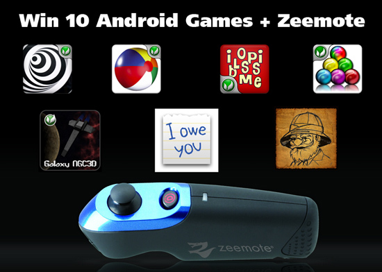Win 10 Android Games like Speedx 3D plus Zeemote [Giveaway]