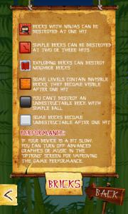 Ninja Breakout Bonus List 3