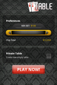 Card Ace Blackjack Tables