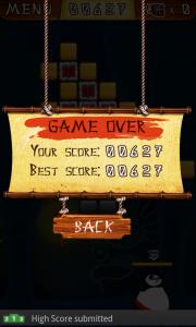 Ninja Breakout Game Over Screen