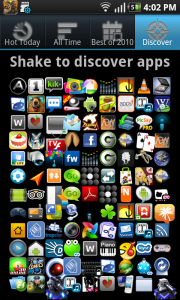 Hot Apps Shake to Discover Apps
