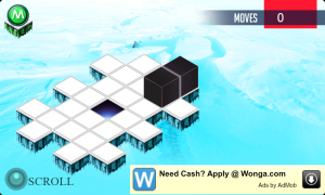 Brain Cube In-Game View Ice Levels