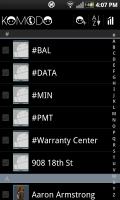 Komodo Address Book Main Screen