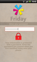 Friday - Password Screen