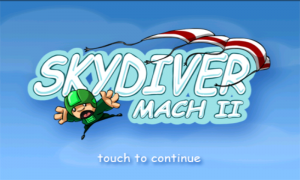 Skydiver Intro page