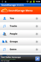 SoundGarage Menu