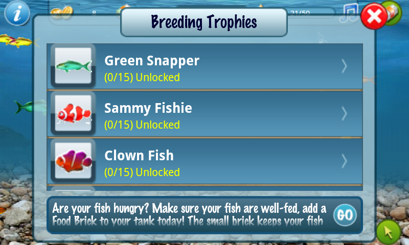 Tap fish breeds 2 androidtapp for Tap tap fish 2