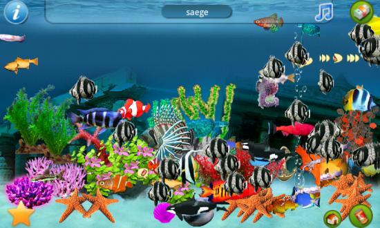 Aquarium 3D на Андроид скачать бесплатно. Живые обои для Android.