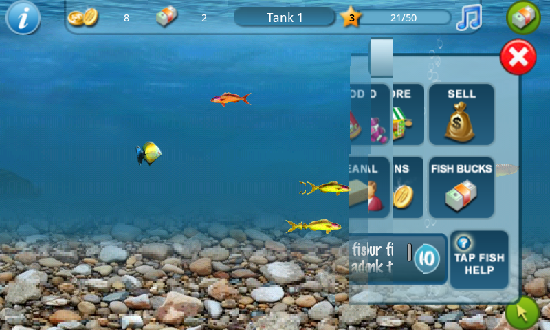 Tap fish tank 2 androidtapp for Tap tap fish 2