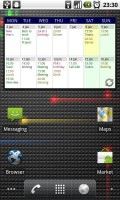 Touch Calendar Home Screen Widget