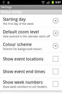 Touch Calendar Settings 1