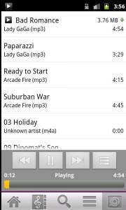 Ubuntu One Playing Music Tracks