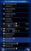 Uniwar Game List Screen