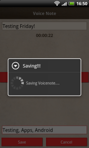 Friday - Voicenote Saving