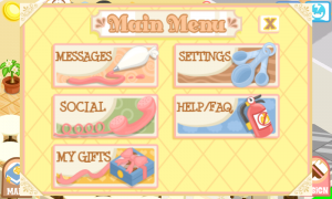 Bakery Story Main Menu