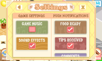 Bakery Story Settings