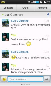IM+ Chat Screen