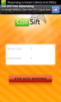 cSift Main Page Auto Response On