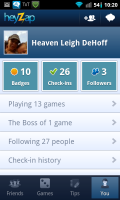 Heyzap User Page