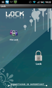 Applock Main Page