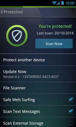 AVG AntiVirus PRO Android Security 2